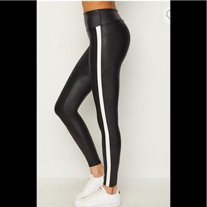 2bf0da94c642f SPANX Pants | Nwt Faux Leather Striped Leggings In Black S | Poshmark